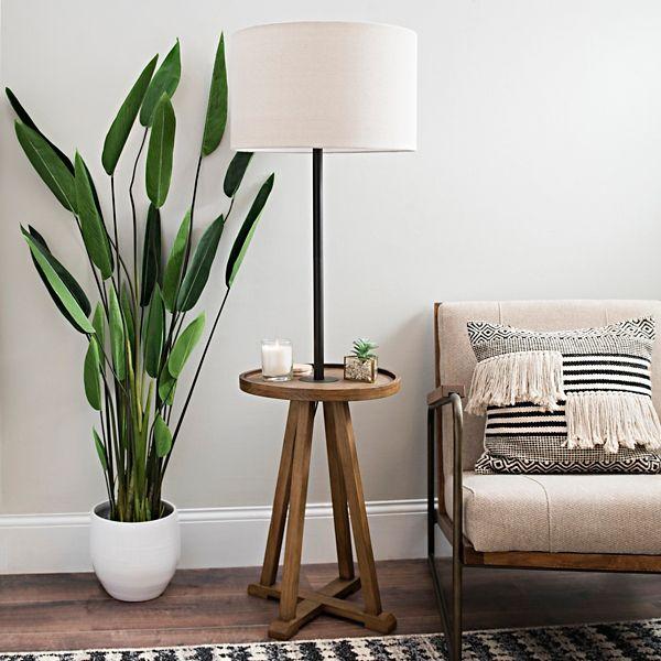 Brown And Black Relics Shelf Floor Lamp Kirklands Floor Lamps Living Room Lamps Living Room Floor Lamp With Shelves #rustic #floor #lamps #for #living #room