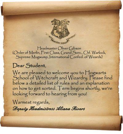 130 best Homeschool- Hogwarts SCS images on Pinterest Harry - hogwarts acceptance letter