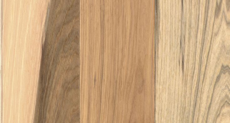 Country Natural Hickory 3.25 in. smooth solid hardwood floor. Brown hickory wood…