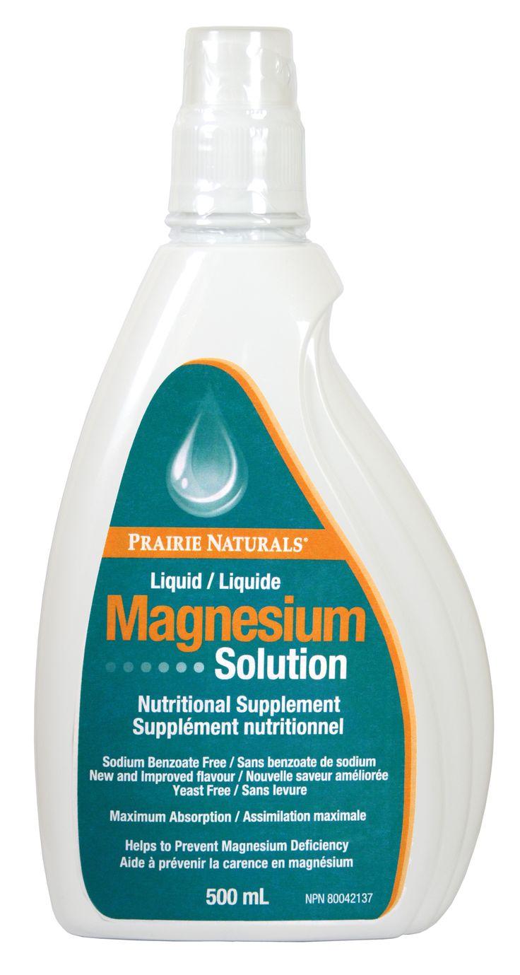 Magnesium Solution- Read more at: www.prairienaturals.ca