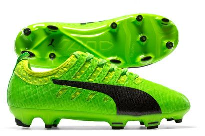 Puma evoPOWER Vigor 1 FG Kids Football Boots Help a budding young players play loud and merge power with precision in these evoPOWER Vigor 1 FG Kids Football Boots in a Green Gecko, Puma Black and Safety Yellow from Puma.Coming from the Puma evo http://www.MightGet.com/april-2017-2/puma-evopower-vigor-1-fg-kids-football-boots.asp