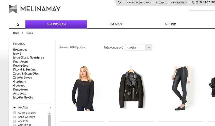MelinaMay - Ρούχα και Παπούτσια   Online Καταστήματα - Webfly.gr