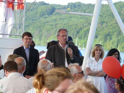 Schifffahrt mit Christian Ude und Tim Weidner auf dem Starnberger See