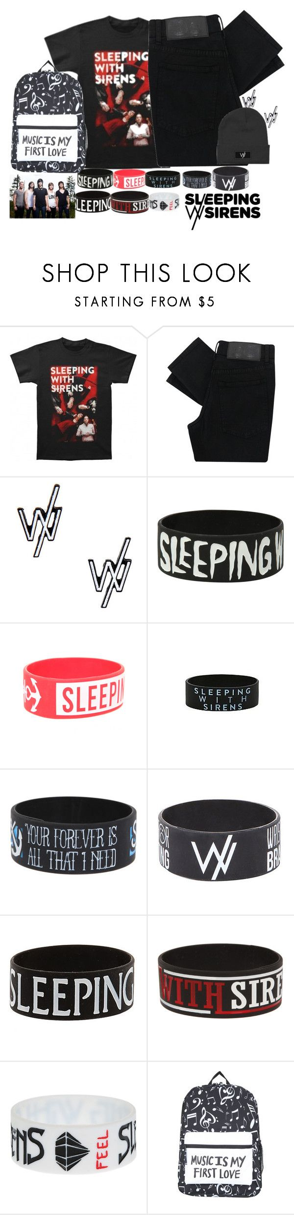 """""""Sleeping with Sirens"""" by bandsvansandsodacans ❤ liked on Polyvore featuring Cheap Monday"""