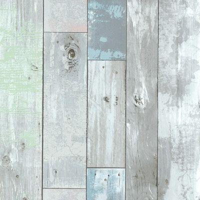 "Brewster Home Fashions Bath Bath Bath Volume IV Dean Distressed Wood Panel 33' x 20.5"" Wallpaper   AllModern"