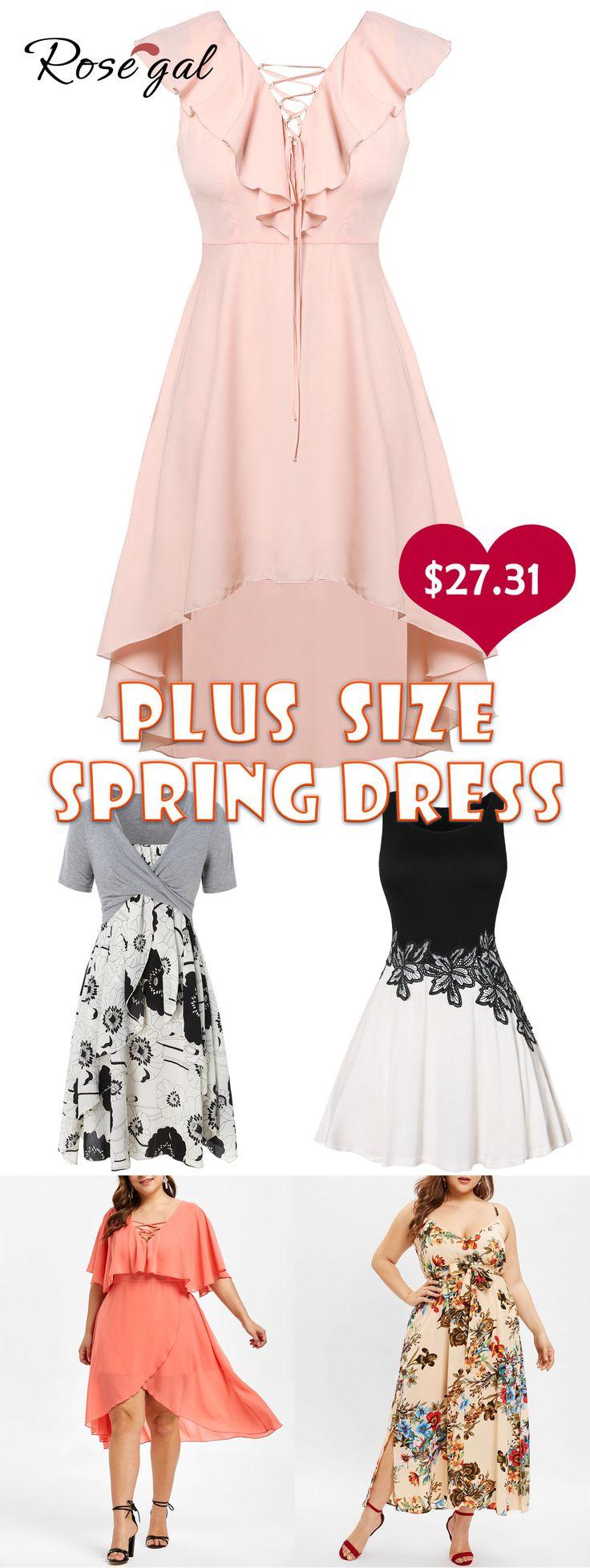 Rosegal plus size Ruffle Embellished Plus Size Lace Up Dress 7