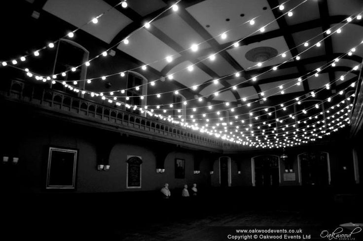 Festoon light canopy over the Debating Chamber at the Oxford Union