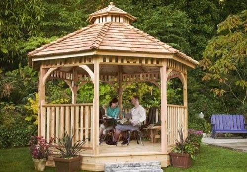 6cedar Pavillon · PavillonHexenhausGartenlaubeAußenbereicheHinterhofHouse  IdeasLeben ...