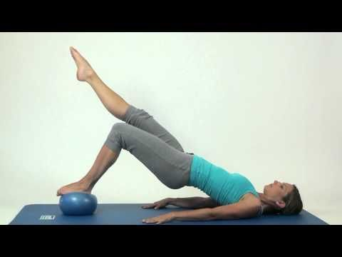 Pilates Exercises - SISSEL® Pilates Ball - Good Movements but not great form. Only practice pilates with the eye of a trained professional.