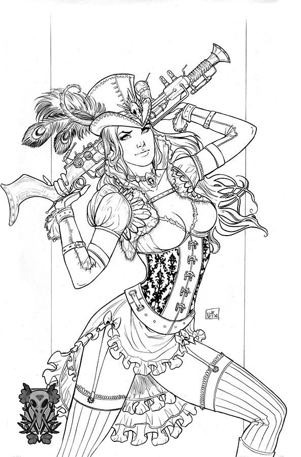 megacon steampunk exclusive by toolkittendeviantartcom on deviantart steampunk girladult coloring pagescoloring