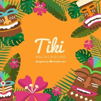 Resultado de imagen para mascaras hawaianas