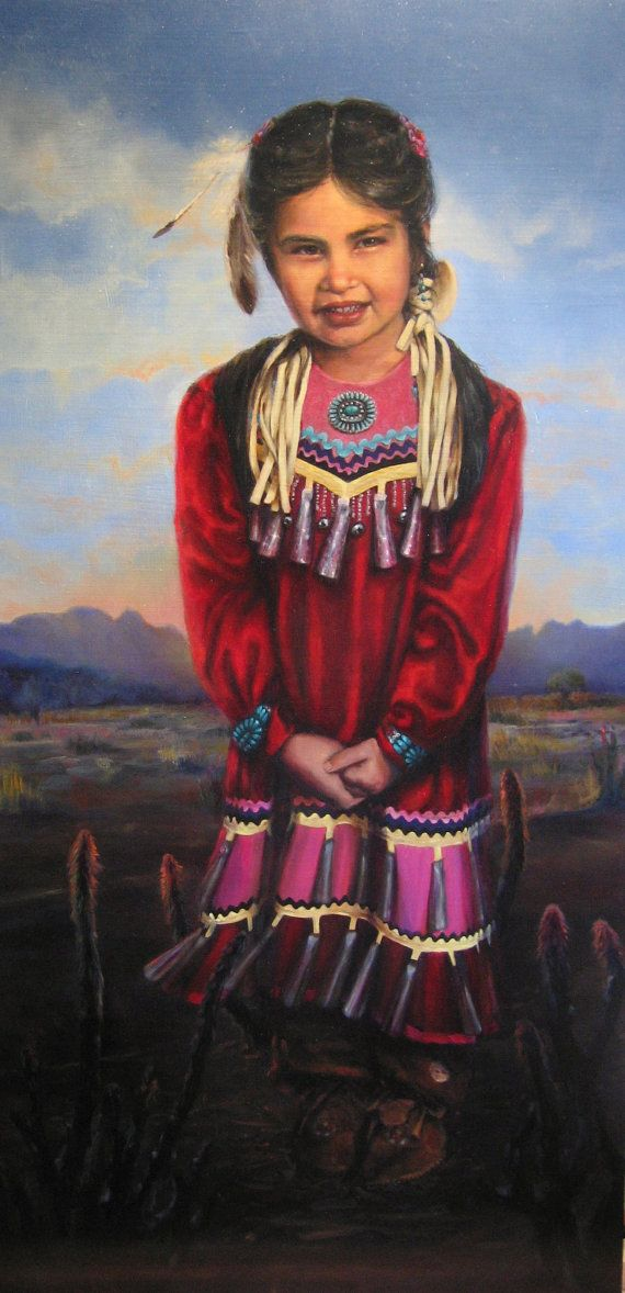 Sequoia - Native American, Indian, Little Girl, Mountains -5089
