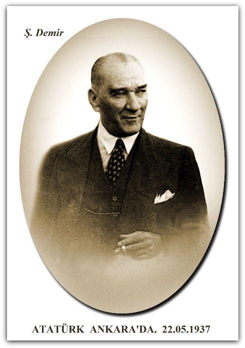 ATATÜRK ANKARA HAVA LİMANINDA.  22.05.1937