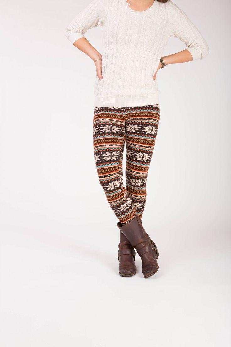 Ellura - winter warme legging met fleece. Winter, Warm, Legging, Snow.