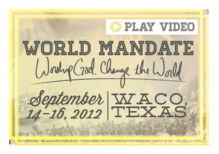 World Mandate 2012  @Jennifer Justice  @Sara Lucado