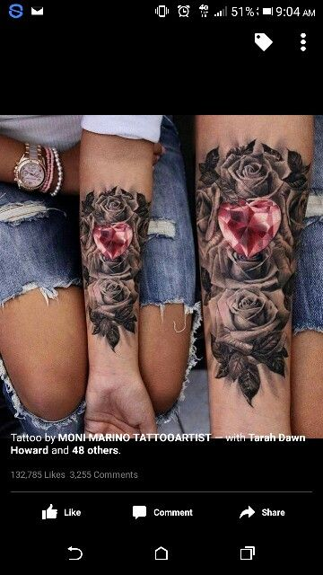 Rosses and hearts