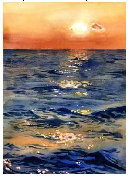 seascape in water color | www.drawing-made-easy.com | #watercolor #seascape