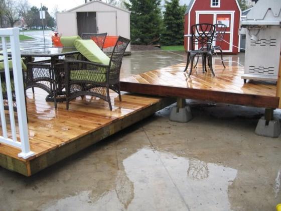 Dual floating deck plans free landscape pool decks for Floating deck around above ground pool