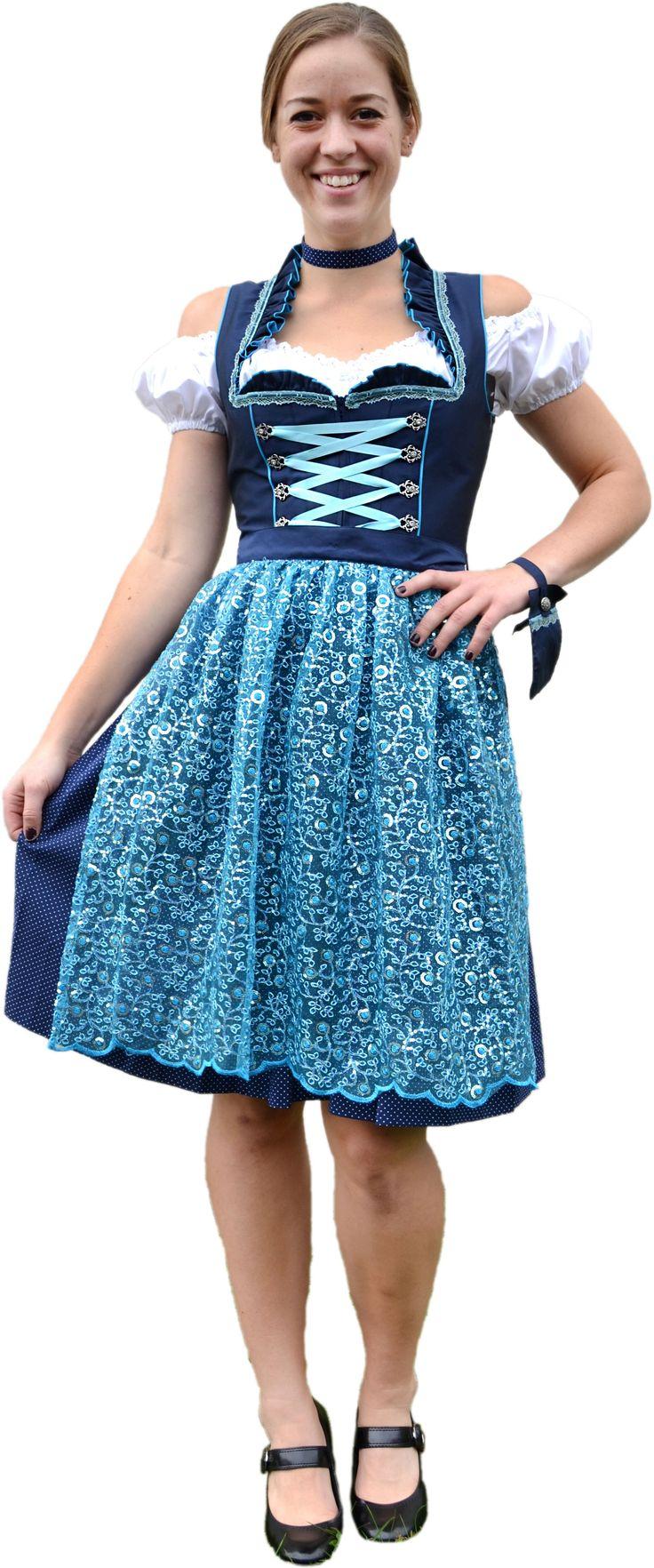 Blue apron germany - Buy Ladies Blue Sequin Dirndl Online Germany Ernst Licht Usa