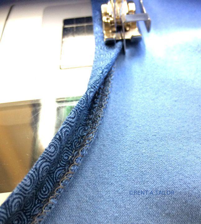 Ran ans Bündchen Teil 3 oder eine schnelle feine Art den Halsausschnitt für ein T-Shirt zu versäubern – RENT A TAILOR