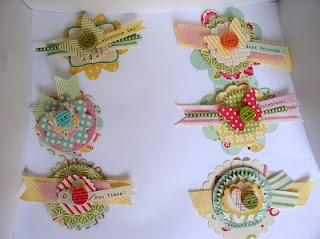 Using ribbon and paper scraps to make fun layered embellishments.