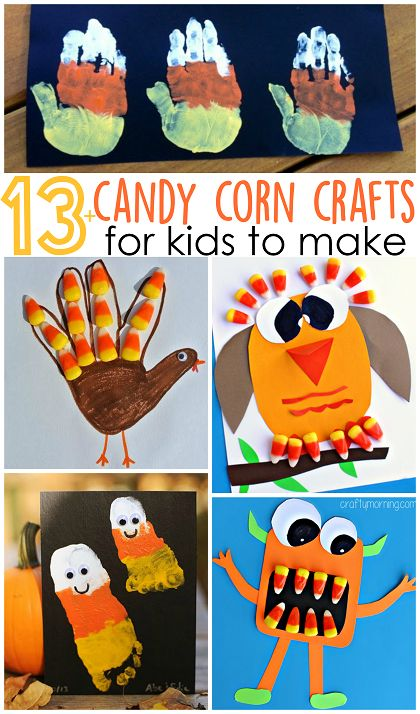 Fun and festive candy corn crafts for kids! Use left over candy corn from Halloween to make these fun crafts for fall!