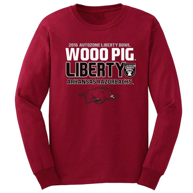 Arkansas Razorbacks 2016 Liberty Bowl Bound Long Sleeve T-Shirt - Cardinal