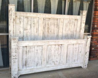 Reclaimed wood furniture/solid wood bed/king size bed/bed frame/bedroom furniture/King size wood bed frame/headboard/poster bed/panel bed
