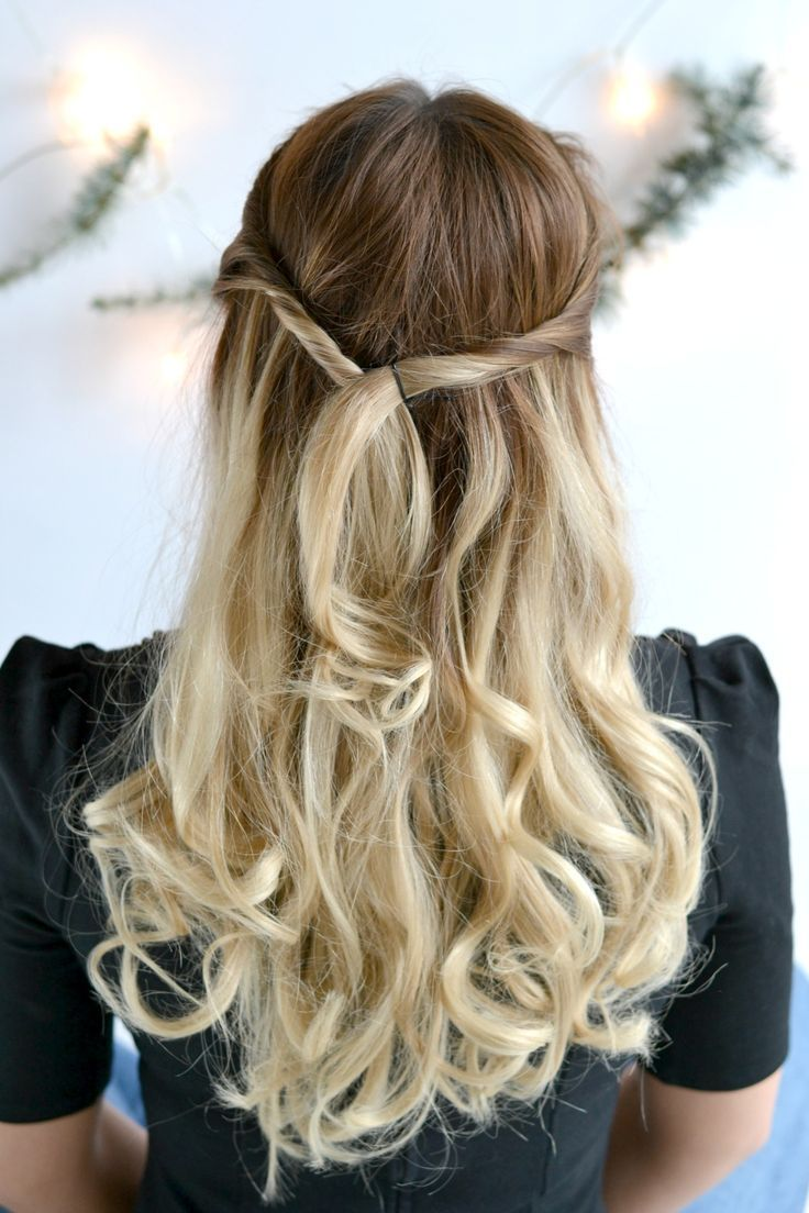 Beauty: Three Festive Hairstyles with Brown Satin Hair 7 Hairstyle N. 2 Twisted Strands Perfect for Christmas #festive #styles #beauty #tutoria …