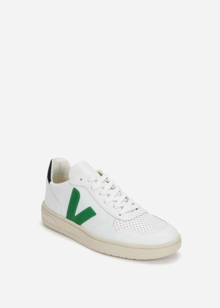ea6be74946cfb4 Details about Veja V10 Women s Sz US 7 EU 38 White Green Leather ...
