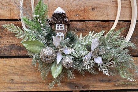Woodland Christmas Wreath madeinady.com