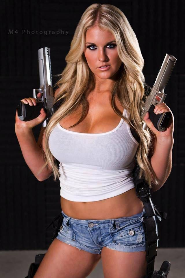 sexy nude girls with weapons