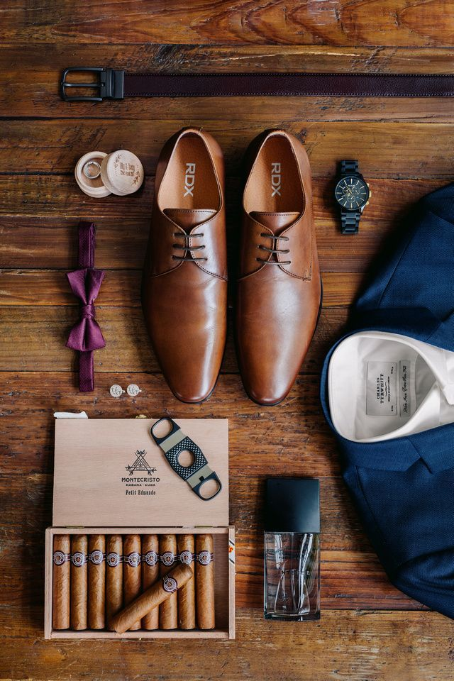 Cute photograph of the grooms marriage ceremony particulars. Navy Blue Rustic Inspiration. #navywed…