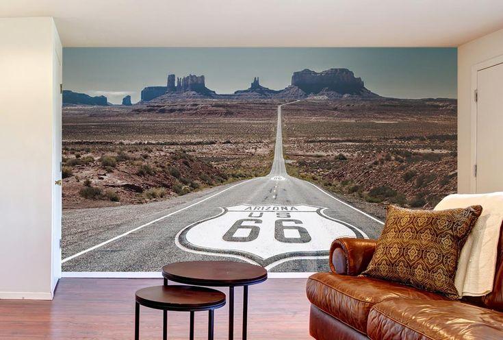 La mythique route 66 qui traverse les USA de l'Illinois à la Californie.