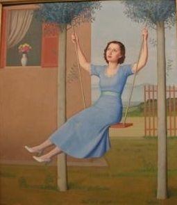 Antonio Donghi - Scarpette in altalena