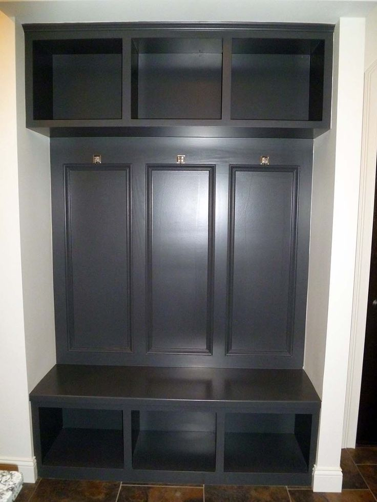 Various Ideas Of Mudroom Bench Dark Stained Built In Mud