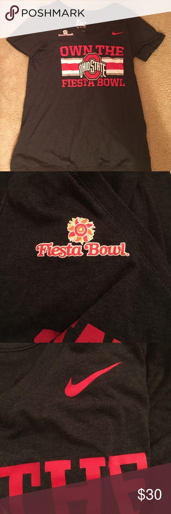 Ohio State Fiesta Bowl Game Shirt Fiesta Bowl and Nike Ohio State Game Shirt Nike Tops Tees - Short Sleeve