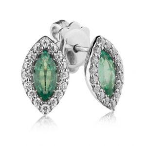 Cercei cu smaralde si diamante - C648 - disponibil pe magazinul online de bijuterii de la Coriolan.
