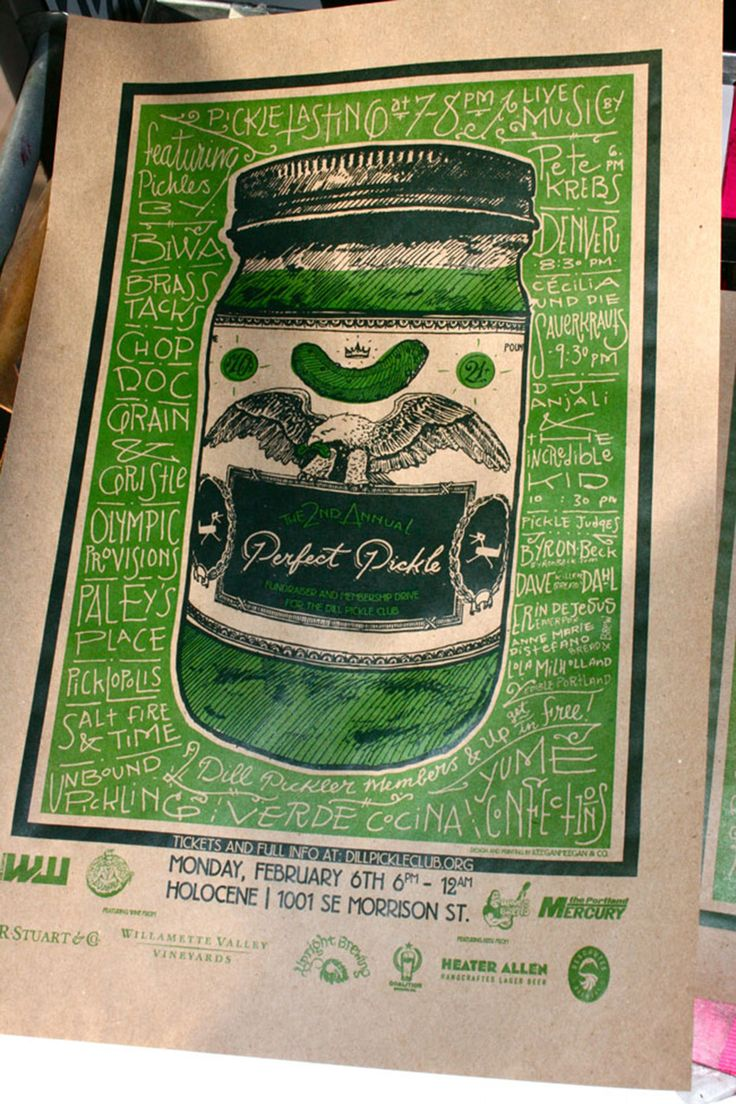 - perfect pickle poster lettering