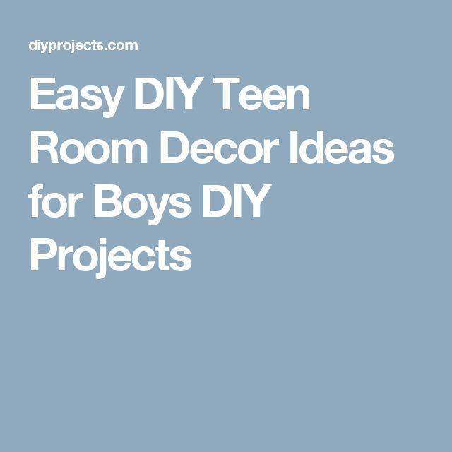 Easy DIY Teen Room Decor Ideas for Boys DIY Projects