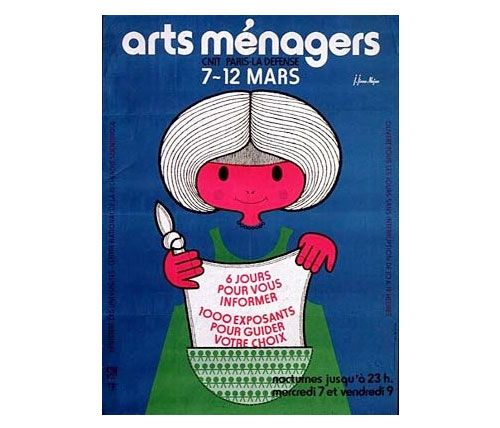 affiche de Jean Jirou Najou Salon des Arts Ménagers, 1979