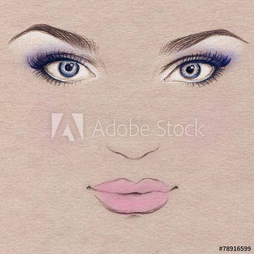 женщина портрет .абстрактная акварель .мода фон