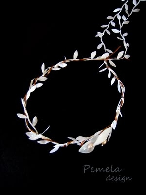 White paper wedding crowns