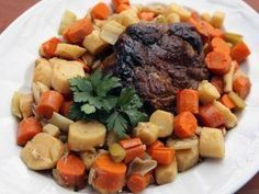 """Pork Pot Roast with Root Vegetables (Hudson Valley Bounty) - Nancy Fuller, """"Farmhouse Rules"""" on the Food Network."""