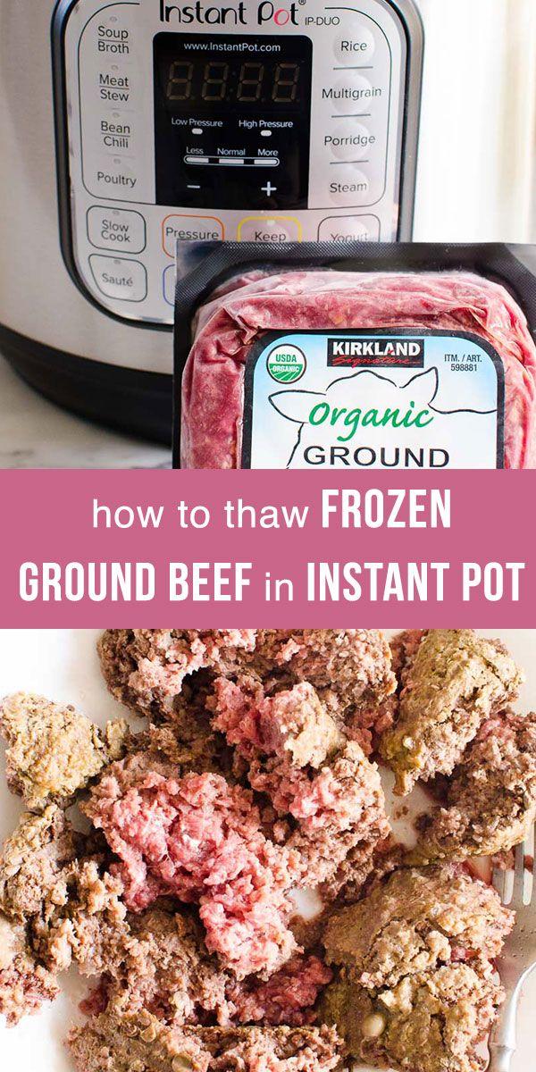 Ground Turkey Instant Pot Meals : Instant Pot Frozen Ground Beef or turkey thawed in your ...