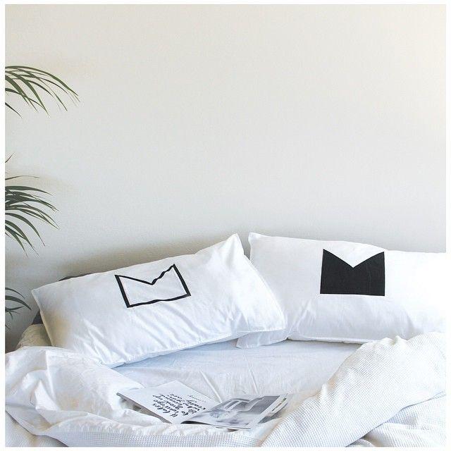 Black Crown Organic Cotton Pillowcases   www.jenniferandsmith.com
