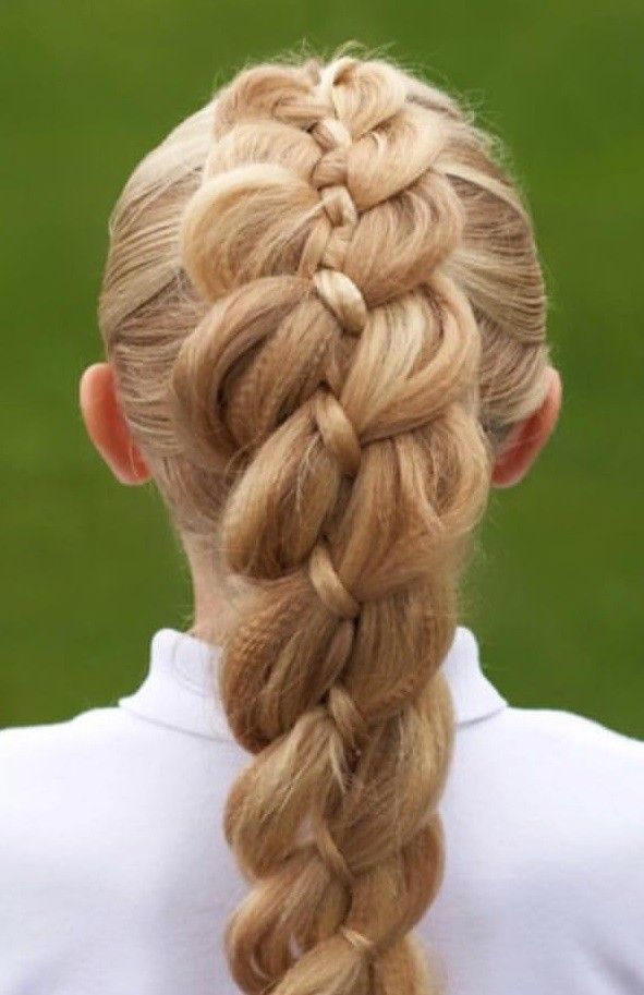 A Textured Dutch Braid With 4 Strands.