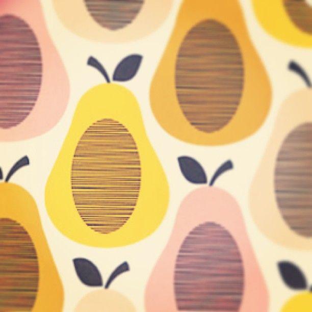 Orla Kiely Melamine range Pear #Print in pastel shades <3