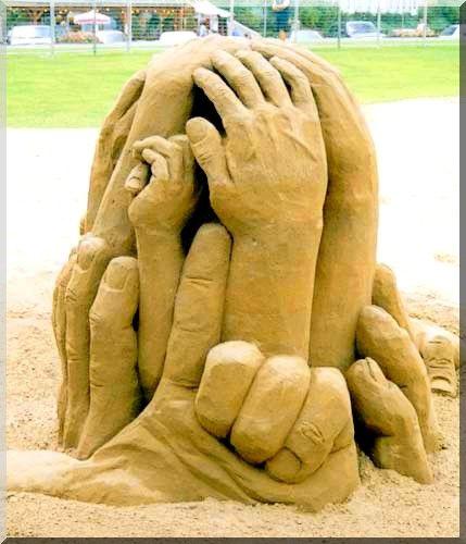 """Hand"" CastleHands Castles, Sands Castles, Ice Sculpture, Hands Sands, Sand Castles, Sand Sculptures, Sculpture Hands, Sands Sculpture, Sands Art"