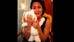 Elle retrouve la peluche de son enfance le soir de Noel